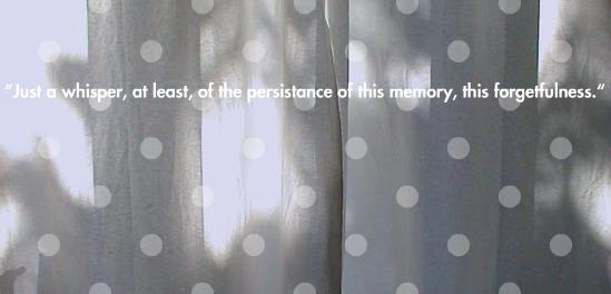 Vstopna stran e-pesmi 'In the white darkness'